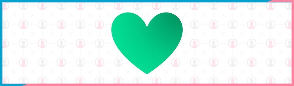 緑のハートマーク【LIKE】