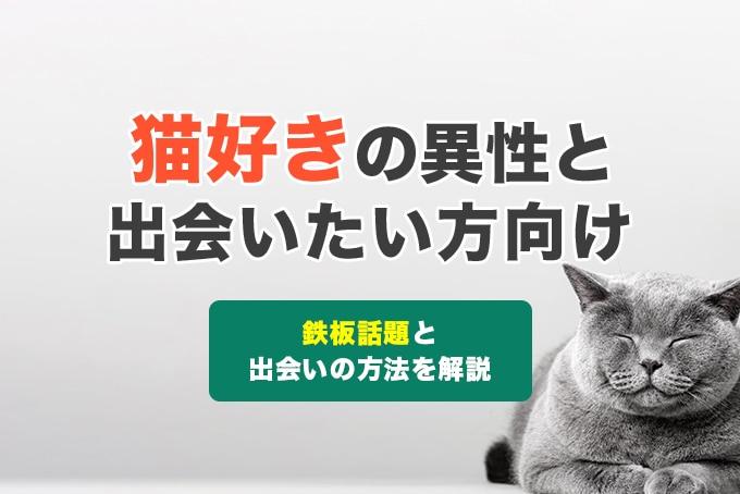 猫好きの異性と出会いたい方必見!