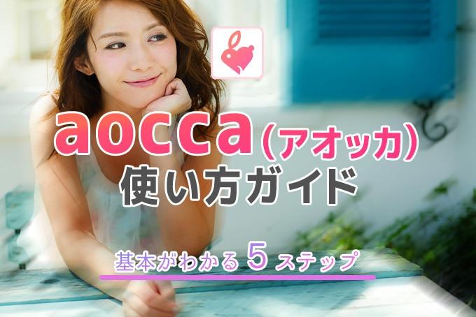 aocca(アオッカ)の使い方