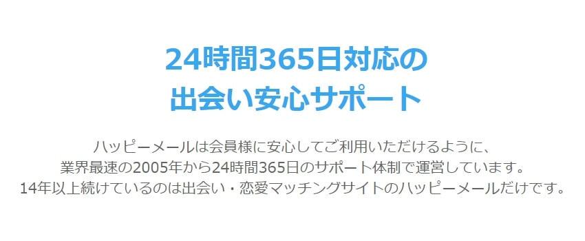 「24時間365日」のサポート体制の説明